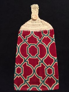 Crocheted Top Dish TowelTrellis Design by HandMadeInMadison