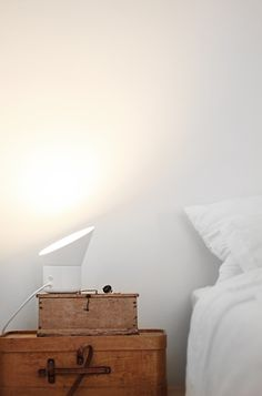 "Love the lamp and ""bedside table"" Muuto - The Up lamp"