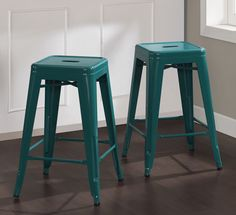 Bought 4 of these teal (peacock) stools for my craft room to go with the gray/white Ikea Linnmon/Finnvard table.
