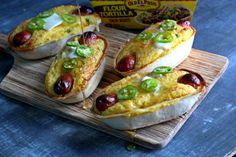 Cheesy Jalapeno Corn Dog Taco Boats - The best tacos of all time or the best corn dogs of all time? You decide!
