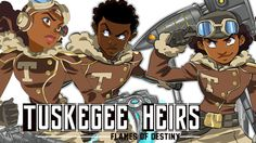 The comicTuskegee Heirs: Flames of Destinyfinished its last victory lap around its Kickstarting goal this weekend, ultimately managing to raise over $74,000—seven times what Marcus Williams and Greg Burnham were initially aiming for. In the days since, fan art of the the characters has popped up across the internet as many eagerly await for the first two issues to drop.