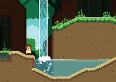 """RELICA - In the Forest - Level design, mood, exploration, pixel art - [""""Just a scene from my WIP demo of Relica""""] Pixel Animation, Viral Videos, Trending Memes, Pixel Art, Funny Jokes, Scene, Community, Entertaining, Explore"""