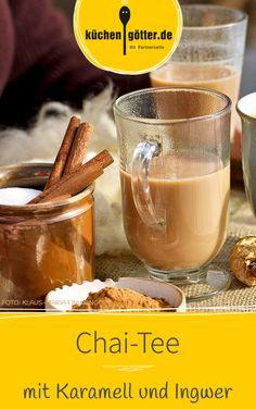 Heiße Milch, selbst gemachter Karamell, Tee und aromatische Gewürze in einer Tasse - mit unserem Chai-Tee Rezept schmeckt der Winter einfach köstlich!