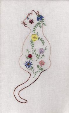 Proud Cat Brazilian Embroidery Design