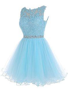 Amazon.com: ALAGIRLS Short Beaded Prom Dress Tulle Applique Homecoming Dress Burgundy US12: Clothing