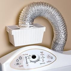 For my remodel: Indoor Dryer Vent - Luv this! It helps keep the basement toasty warm and the house smelling laundry fresh! Plus my clothes dry in only one cycle now, so the electric bill will be much better during the winter mos.