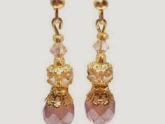 Ladies! Check out this Glamorous Sparkle Pale Pink Earrings Worldwide Giveaway