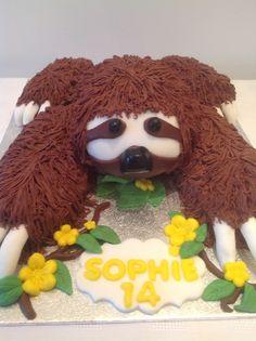 Sloth cake by Lyn Birthday Cupcakes, Birthday Parties, Birthday Ideas, Sloth Cakes, Animal Cakes, Cute Sloth, Healthy Cake, Cake Decorating Tools, Creative Cakes
