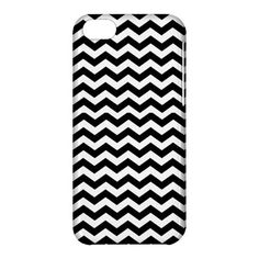 Black and White Chevron Printed iPhone 5C Hardshell Case CoverClick picture to enlarge