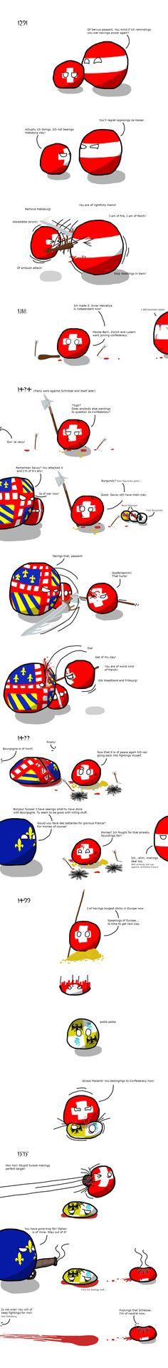 Switzerland before doing nothing - Imgur found via the Polandball facebook page