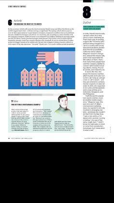 Fast Company  magazine editorial design