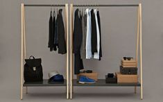Buy Normann Copenhagen Toj Clothes Rack grey online with Houseology's Price Promise. Full Normann Copenhagen collection with UK & International shipping. Standing Closet, Wardrobe Furniture, Clothes Rail, Clothes Rack Bedroom, Hanging Clothes Racks, Clothes Stand, Dress Clothes, Clothes Hanger, Garment Racks