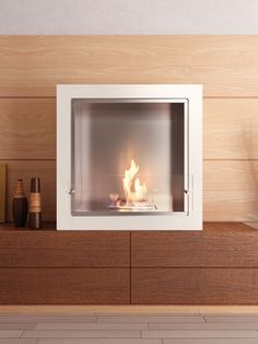 Cube Jr. Freestanding Fireplace by Eco Smart Fire on Gilt Home