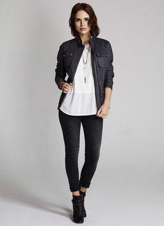 Steel Quilted Jacket | Jackets & Coats | MintVelvet