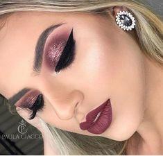 Trendy makeup looks red lips mac eyeshadow 59 Ideas Trendy Make-up sieht rote Lippen Mac Lidsc Eyeshadow Makeup, Makeup Brushes, Eyeliner, Hair Makeup, Eyeshadow Ideas, Makeup Hairstyle, Colourpop Eyeshadow, Eyeshadow Tutorials, Glam Makeup Look