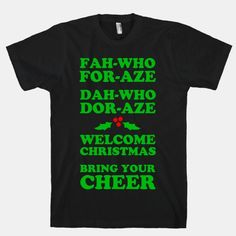 Dah-who Dor-aze. Bring the christmas cheer to your get together, have this song stuck in everyone's head from one of your favorite holiday movies! #grinch #song #christmas #holiday