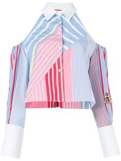 Tommy Hilfiger Cold Shoulder Striped Shirt $306 - Buy Online SS18 - Quick Shipping, Price
