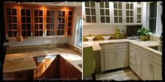 Before & After Our Kitchen Cabinet Painting Project in Morristown NJ