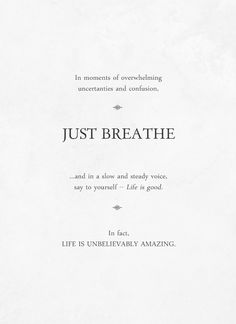 Just breathe — by Of Trees and Hues