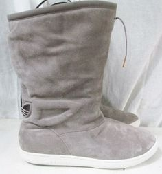NEW Womens Adidas Attitude G16676 Leather Hipster Boho Boots Shoes BEIGE 11