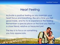 Heart Breathing / Heart Feeling from HMI - Appreciation Tool and Exercise