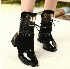 Womens Flats High Top Casual Shoes Punk Biker Boots Strappy Zipper Ankle Boots in Clothing, Shoes & Accessories, Women's Shoes, Boots Cute Shoes, Me Too Shoes, Awesome Shoes, Biker Boots, Ankle Boots, Womens Flip Flops, Types Of Shoes, New Shoes, Women's Shoes