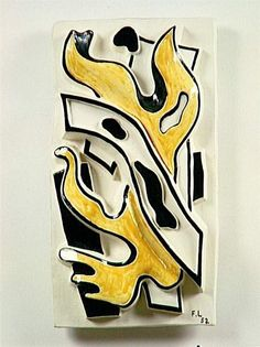 The yellow flame by @artistleger #purism #frenchart