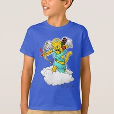 Valentine's Day Ginger Yellow Cupid Cat T-Shirt - valentines day gifts love couple diy personalize for her for him girlfriend boyfriend