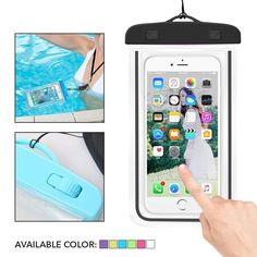 Waterproof Underwater Case Dry Pouch for Mobile Smartphone Mobile Smartphone, Mobile Phones, Rafting, Underwater, Phone Accessories, Diving, Ski, Pouch, How To Apply