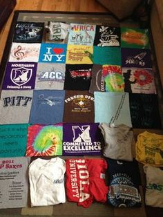 How to make a tshirt quilt...my next sewing project.