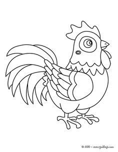 Dibujo para pintar gallo