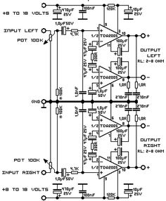 2x30W Stereo Audio Amplifier based STK465 schematic diagram