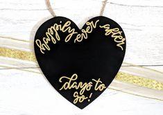 Your Wedding Countdown - Aspire Wedding Wedding Countdown, Christmas Countdown, Chalkboard Wedding, Chalkboard Signs, Wedding Planning On A Budget, Wedding Reception Food, Christmas Delivery, Wedding Signs, Wedding Ideas
