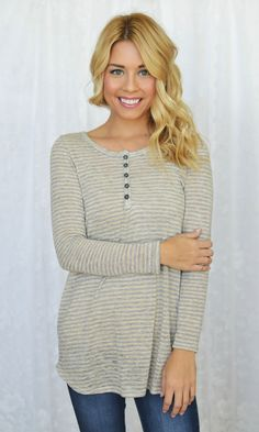 Jamie Lee - Button Basic Top | Oatmeal, $36.00 (http://www.jamieleeboutique.com/button-basic-top-oatmeal/)