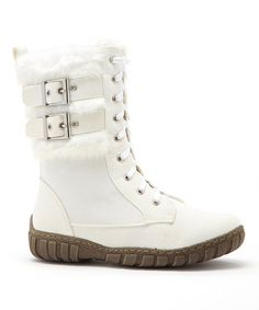 Another great find on #zulily! Winter White Phineas Boot #zulilyfinds