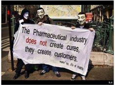 The pharmacuetical industry does not create cures...