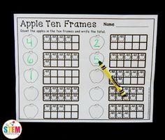 Apple Ten Frames   Apples    Ten Frames Apples And