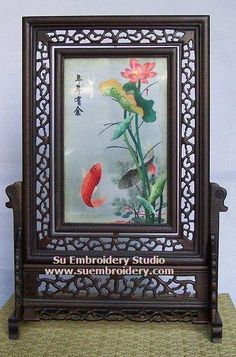 Fish, double-sided embroidery work, one embroidery two identical sides, Chinese Suzhou silk embroidery art, Su Embroidery Studio