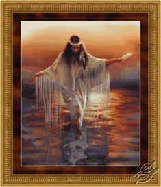 Native American Counted Cross Stitch free patterns to download | Designed by: Dyan Allaire