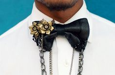 I think I want a leather bowtie dripping with chains and adorned with clip-on earrings...