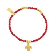 Chlobo Sun Dance Gold Plate Red Bamboo Coral Eagle Bracelet - £80.00