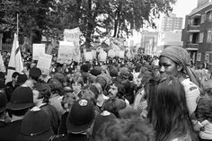 Watching a National Front march in Hackney - Tony Bock 1970s