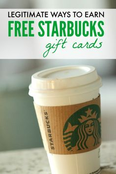 how to earn free starbucks gift cards