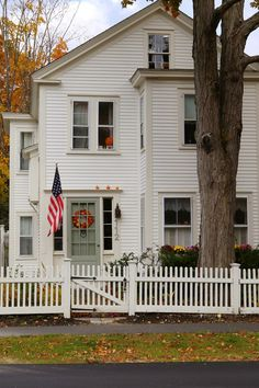 New England Living: New England Autumn Village: New England Cottage, New England Farmhouse, New England Style, New England Homes, Exterior Design, Interior And Exterior, House Goals, Inspired Homes, American