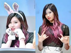 #bunny or #rocker #sana?? - #Rompechinas #asiangirls #kpop #hot #sexy #cute #beauty #pretty #nice #style #fashion #hair #face #makeup #fit #waist #legs #model #singer #dancer #girl #young #jyp #twice #kawaii #cosplay #japan