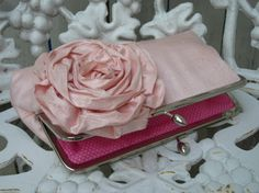 Blooming Rose Kisslock Bridal Clutch wedding by ItsSoClutch