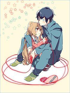 Taiga x Ryuuji - Toradora! Neko, Manga Anime, Anime Art, Otaku, Anime Friendship, Gekkan Shoujo, Ecchi, Ghost In The Shell, Tsundere
