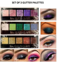 $8 (3) NEW Cosmetics Eye shadow Color Makeup PRO GLITTER Eyeshadow PALETTE  #2ndLove