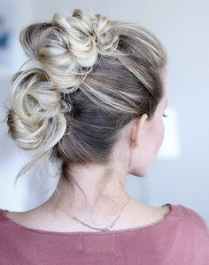 Throw your hair up in these faux buns for a look that is ready to party!