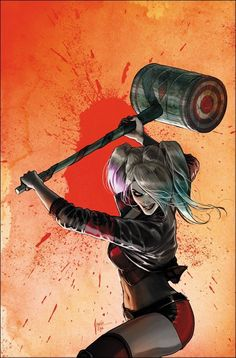 Harley Quinn variant cover by Mikel Janin *